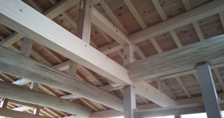 無垢材の木組み